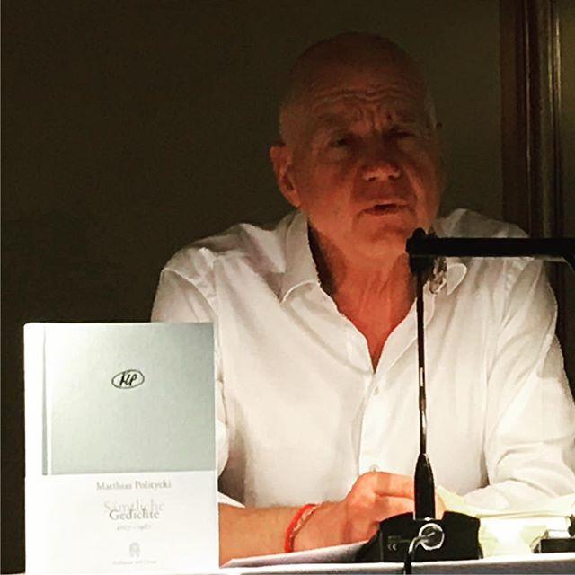 Der Mann und das Buch: #matthiaspolitycki #lyrik #gedichte #heinekomm
