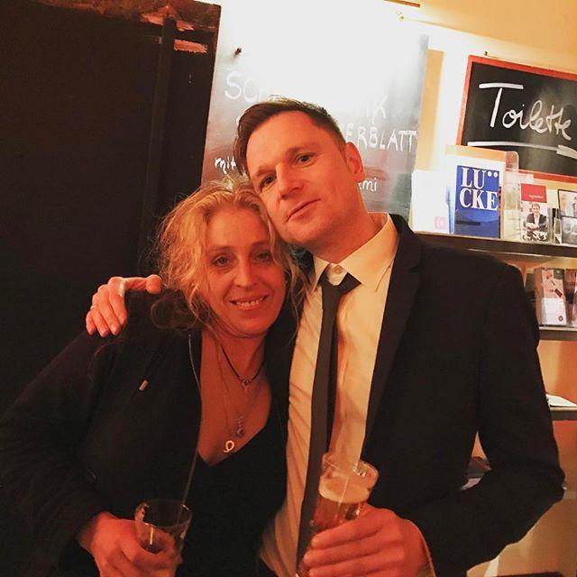 Doppelfichte: Hubert-Fichte-Preisträger 2017, Michael Weins mit Tina Uebel, Preisträgerin 2012 #hubertfichtepreis #michaelweins #tinauebel #heinekomm