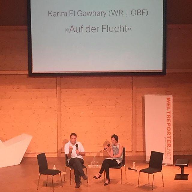 Nächste Runde nach der Pause: #karimelgawhary #corneliavospernik #weltreporterforum2016