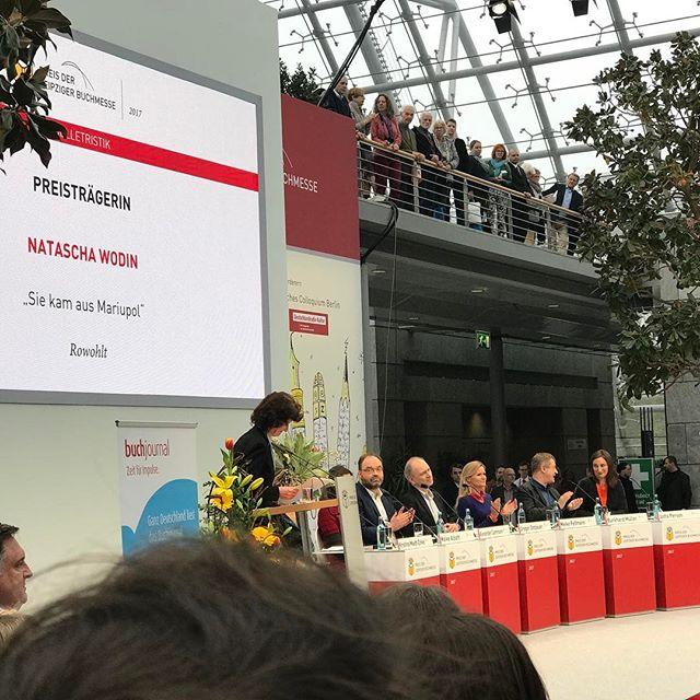 Preis der Leipziger Buchmesse: Natascha Wodin #nataschawodin #preisderleipzigerbuchmesse #lbm2017 #heinekomm