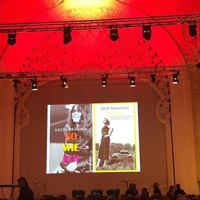 Jazz & Love: Buchpremiere Uschi Brüning und Wolf Biermann #uschibrüning #wolfbiermann #jazzsinger #lbm2019 #heinekomm