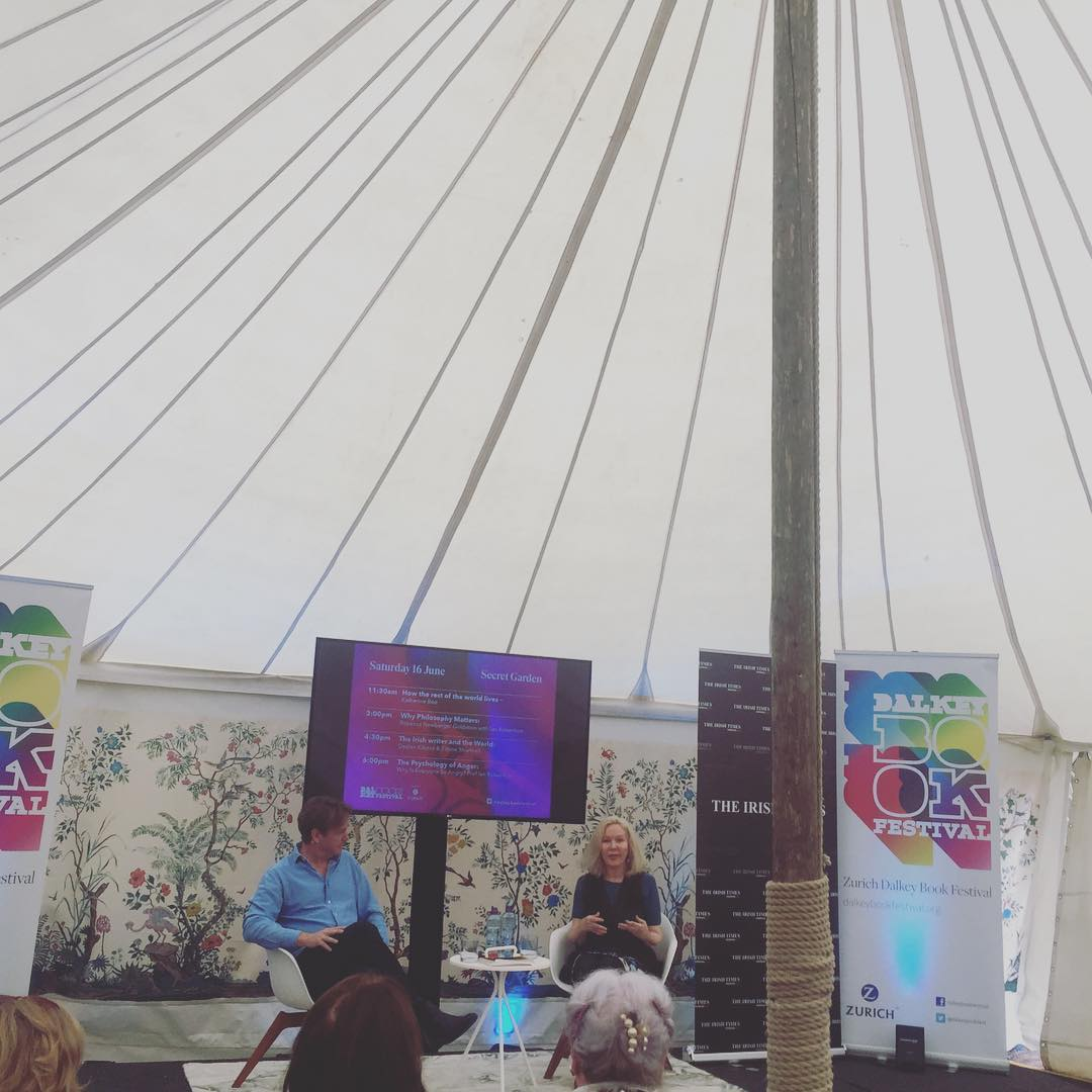 """""""Writers have to find different ways to tell stories. You can't just put the blame on Trump or the readers."""". #dalkeybookfest #dalkeybookfestival2018 #katherineboo #heinekomm #thebeautifulforevers"""
