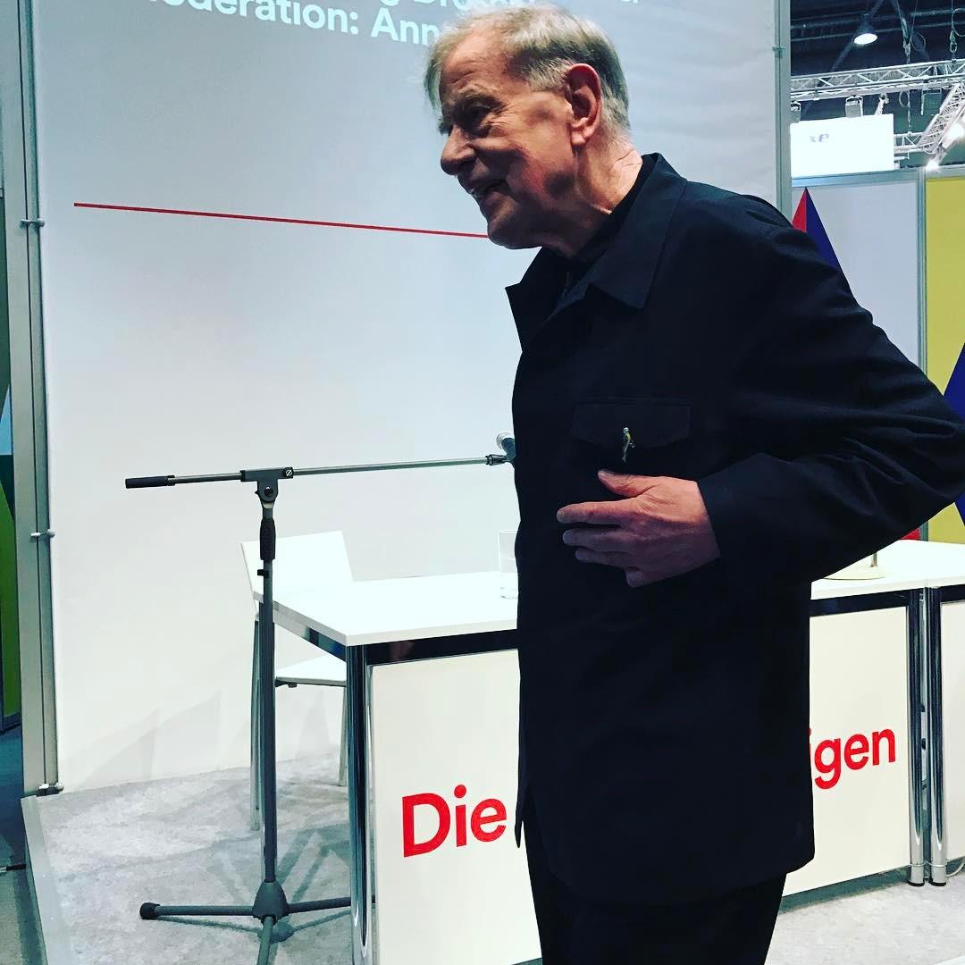 Claus Peymann, der über die Wandlung sprach. #berlinerensemble #clauspeymann #lbm2017 #heinekomm