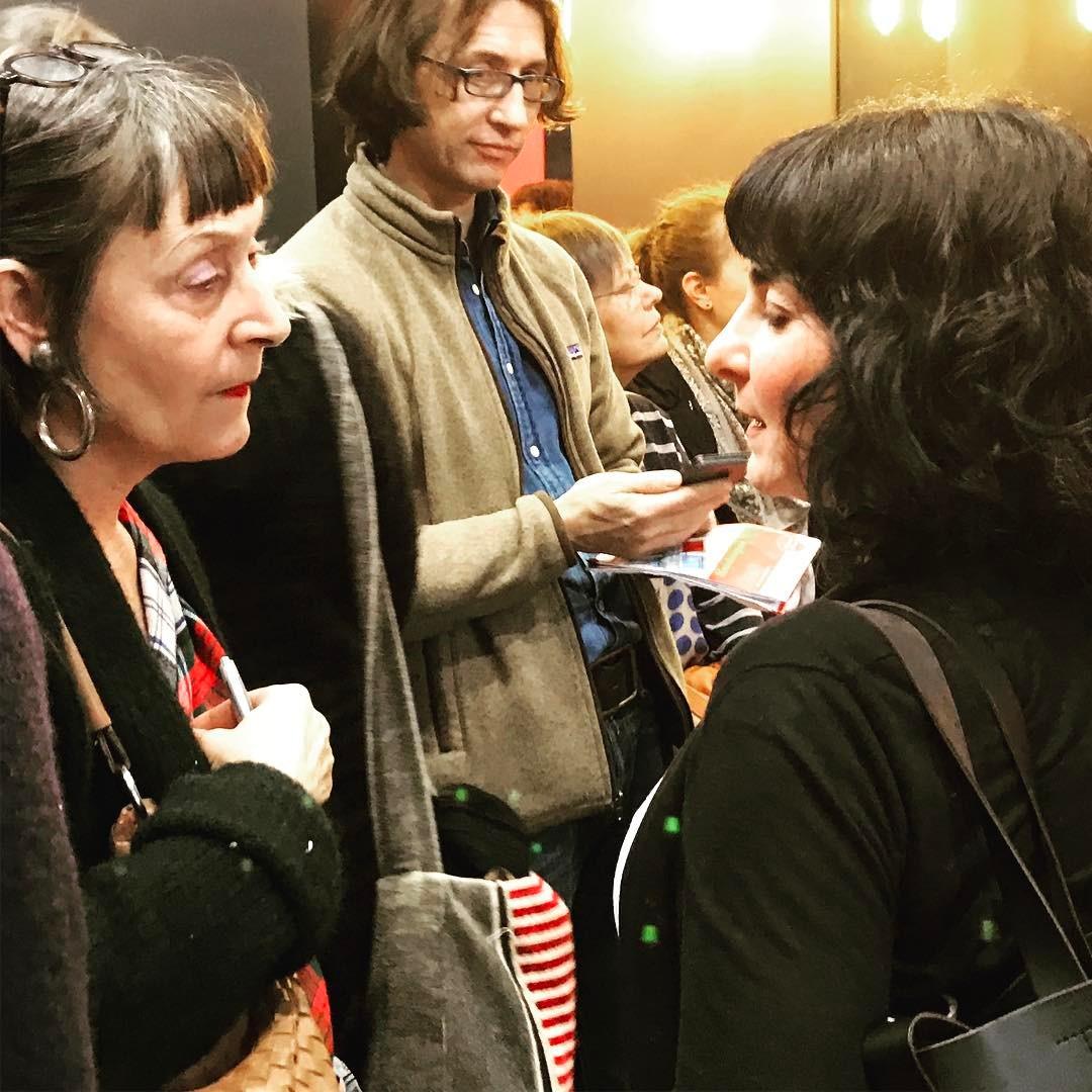 Meli Kiyak und Susanne Meyer in  der Debatte über das Binnenwissen über Flüchtlinge #lbm2017 #robertboschstiftung #heinekomm