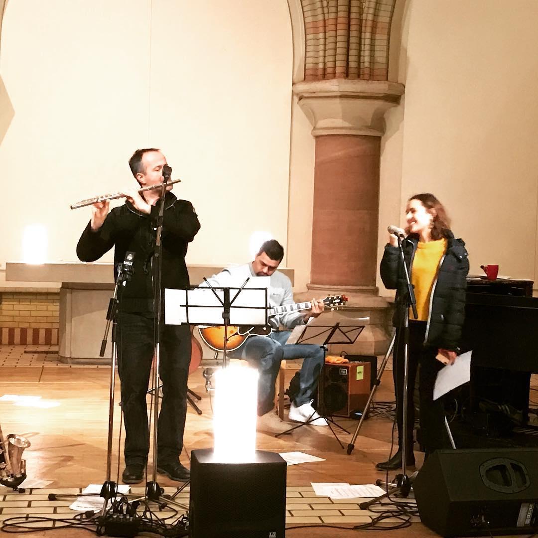 Warmup zu »Reformation Songs Vol. 2« mit #gabrielcoburger #cleosteinberger #giovanniweiss und #lutzkrajenski #martinstage #mt2016 #heinekomm